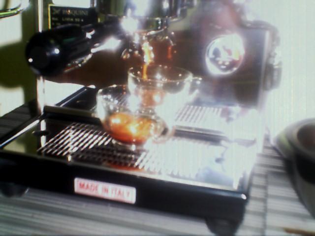 Pulling Espresso Shot